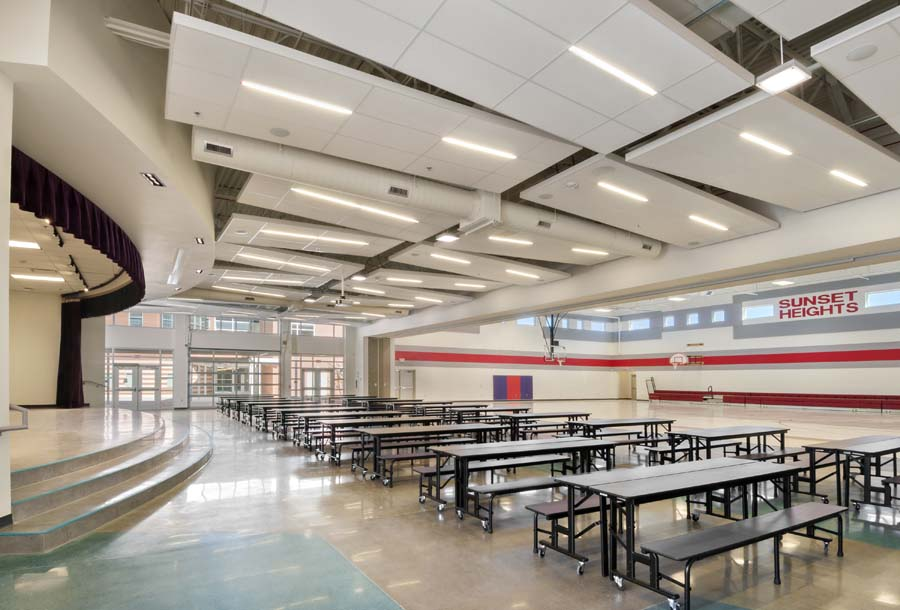 Sunset Heights K-8 School Cafeteria and Stage